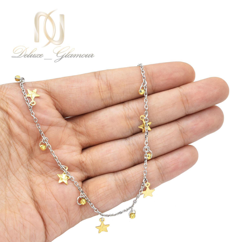 پابند دخترانه طرح ستاره و گوی طلایی pa-n015 - عکس روی دست