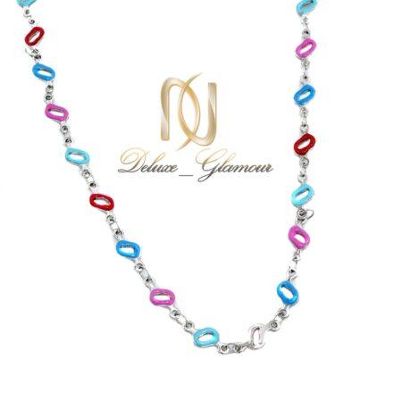 گردنبند دخترانه فانتزی استیل نگین لاکی NW-N532
