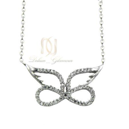 گردنبند دخترانه نقره ظریف طرح بی نهایت nw-n521 از نمای سفید