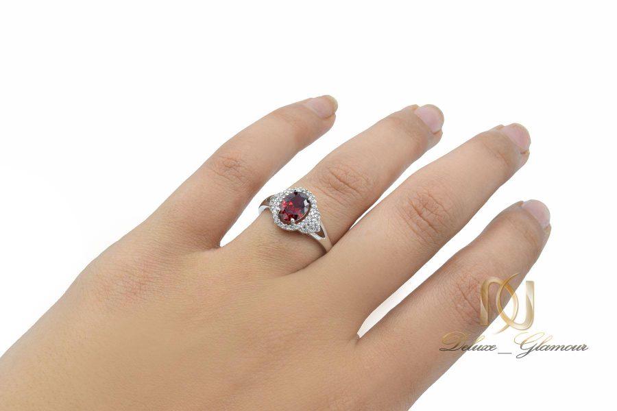 انگشتر ژوپینگ زنانه ظریف RG-N427 از نمای روی دست