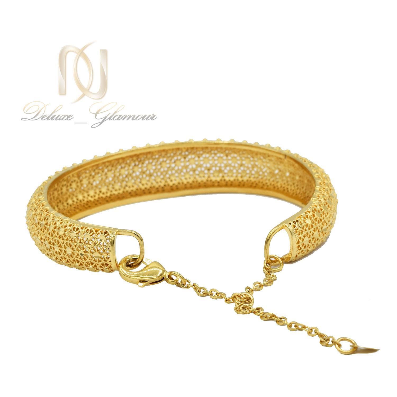 دستبند زنانه برنجی طرح طلا فری سایز ds-n477 از نمای پشت