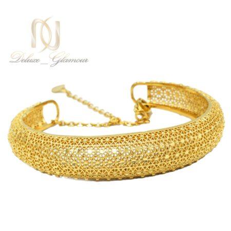 دستبند زنانه برنجی طرح طلا فری سایز ds-n477 از نمای سفید