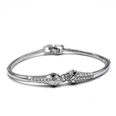 دستبند زنانه نگین طرح مار ds-n483