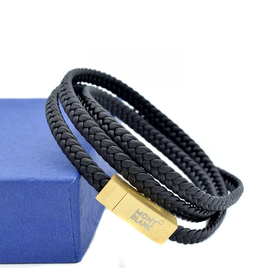 دستبند مردانه اسپرت چرمی ds-n496 از نمای روبرو