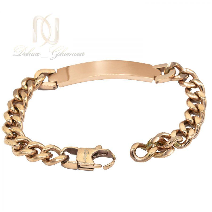 دستبند مردانه طرح کارتیه استیل رزگلد ds-n481 از نمای پشت