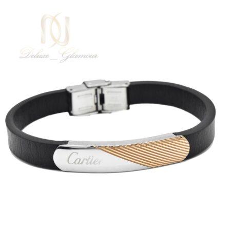دستبند مردانه چرمی کارتیه ds-n493 از نمای سفید