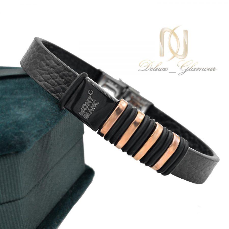 دستبند پسرانه چرم مونت بلانک ds-n494 از نمای کنار