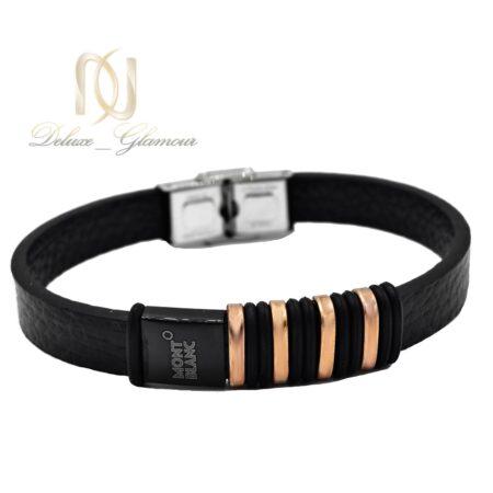 دستبند پسرانه چرم مونت بلانک ds-n494 از نمای سفید