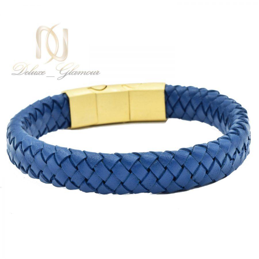 دستبند چرم آبی طرح رولکس اسپرت ds-n478 از نمای سفید