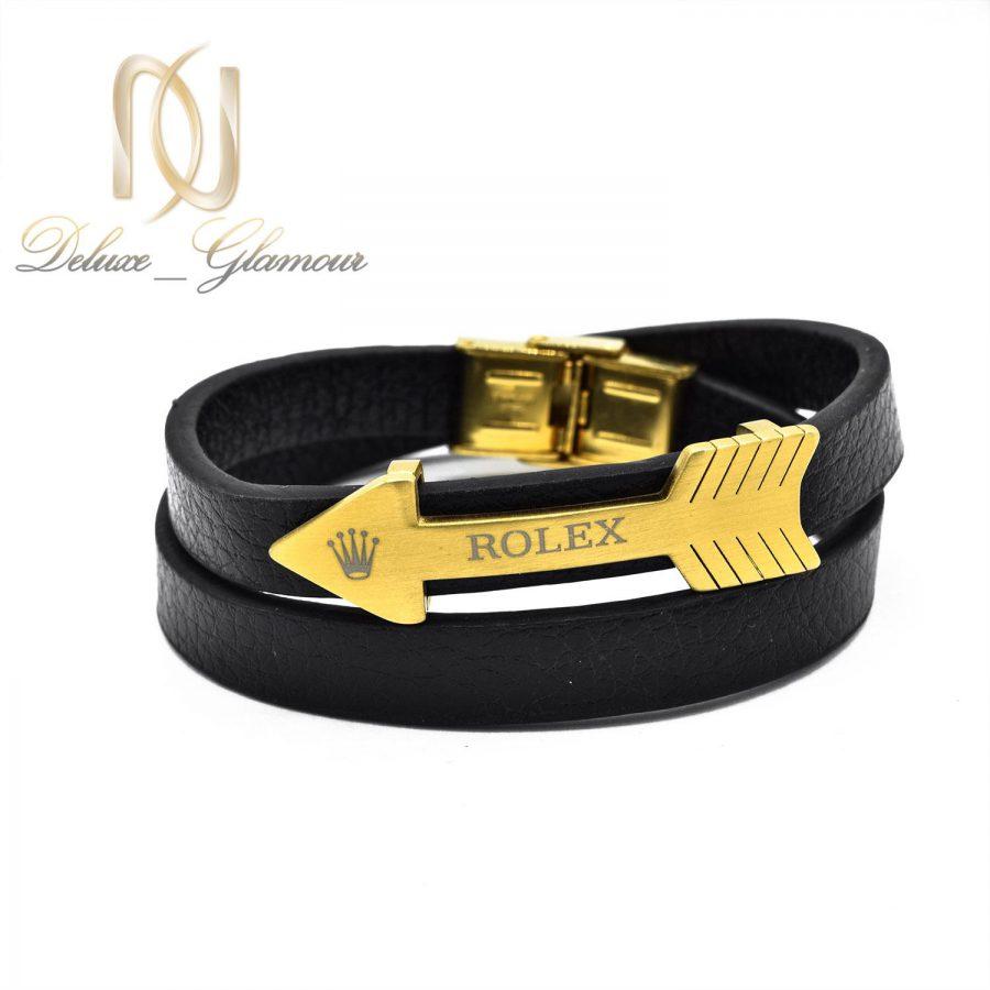دستبند چرم طرح تیر اسپرت ds-n486 از نمای سفید