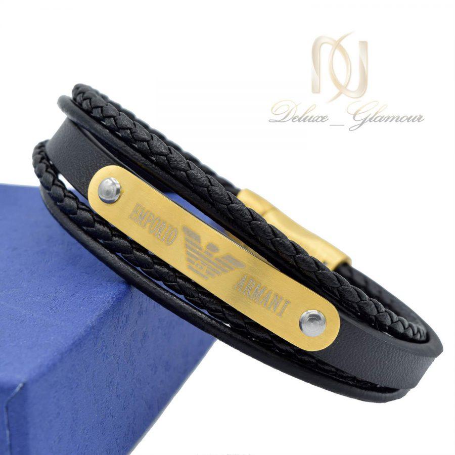 دستبند چرم پسرانه آرمانی ds-n492 از نمای کنار