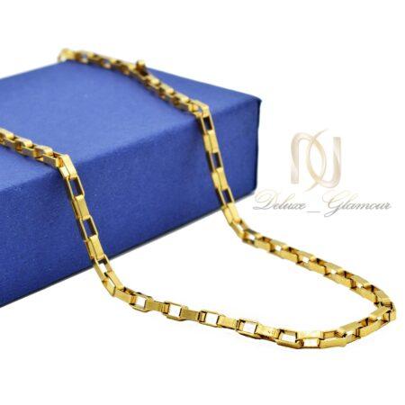 زنجیر مردانه استیل آجری nw-n553 از نمای کنار