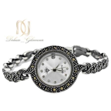 ساعت زنانه نقره سیاه قلم wh-n159 از نمای سفید