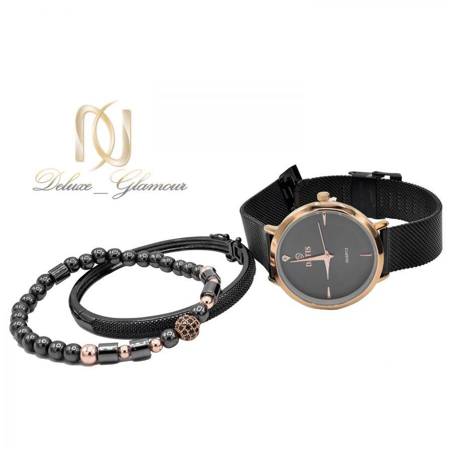ست ساعت و دستبند زنانه اسپرت مشکی SE-N301 از نمای دور