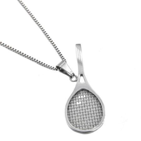 گردنبند استیل راکت تنیس nw-n545