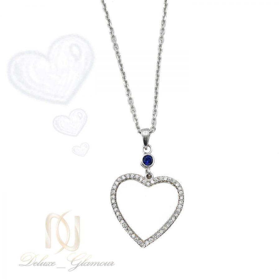 گردنبند دخترانه طرح قلب NW-N552 از نمای دور