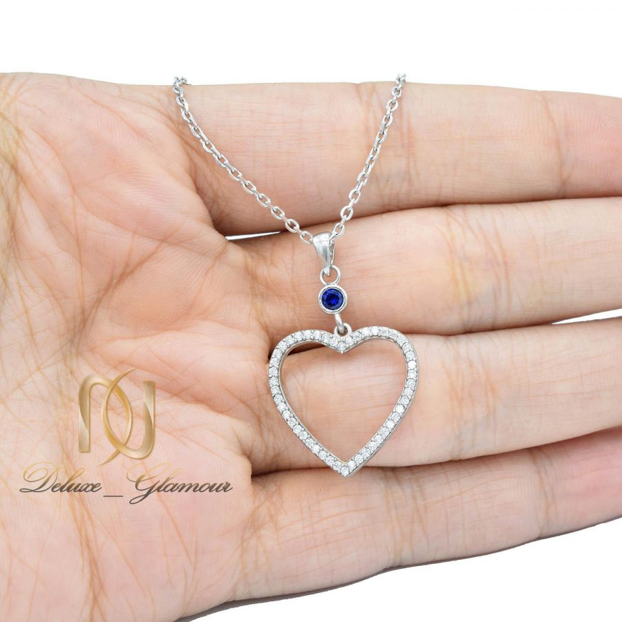 گردنبند دخترانه طرح قلب NW-N552 از نمای روی دست