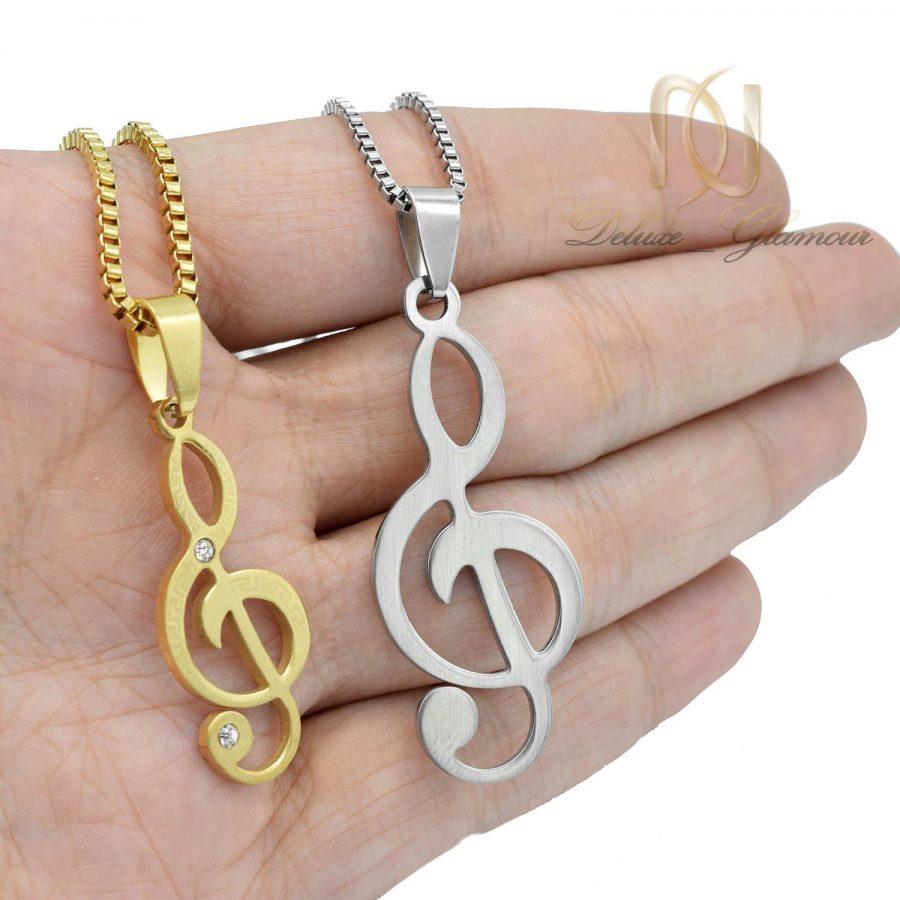 گردنبند ست طرح کلید سل استیل nw-n541 از نمای روی دست