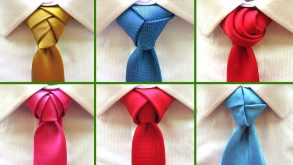 گره های کراوات لوکس گلامور 600x338 - آموزش بستن کراوات به صورت گام به گام و تصویری