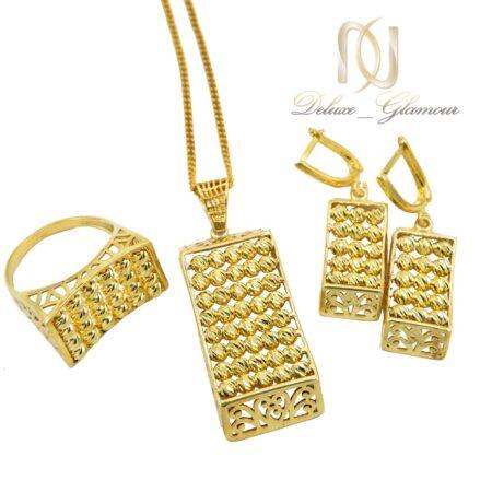 سرویس نقره ساچمه ای طلایی رنگ Ns-n600