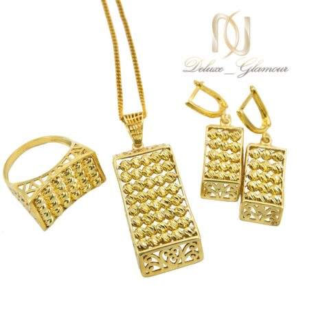 سرویس نقره ساچمه ای طلایی رنگ Ns-n600 - عکس اصلی