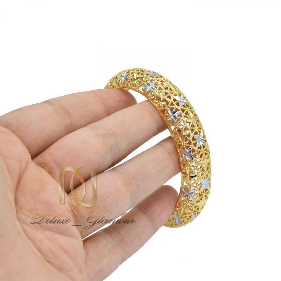 دستبند توری زنانه طرح طلا ds-n33 روی دست