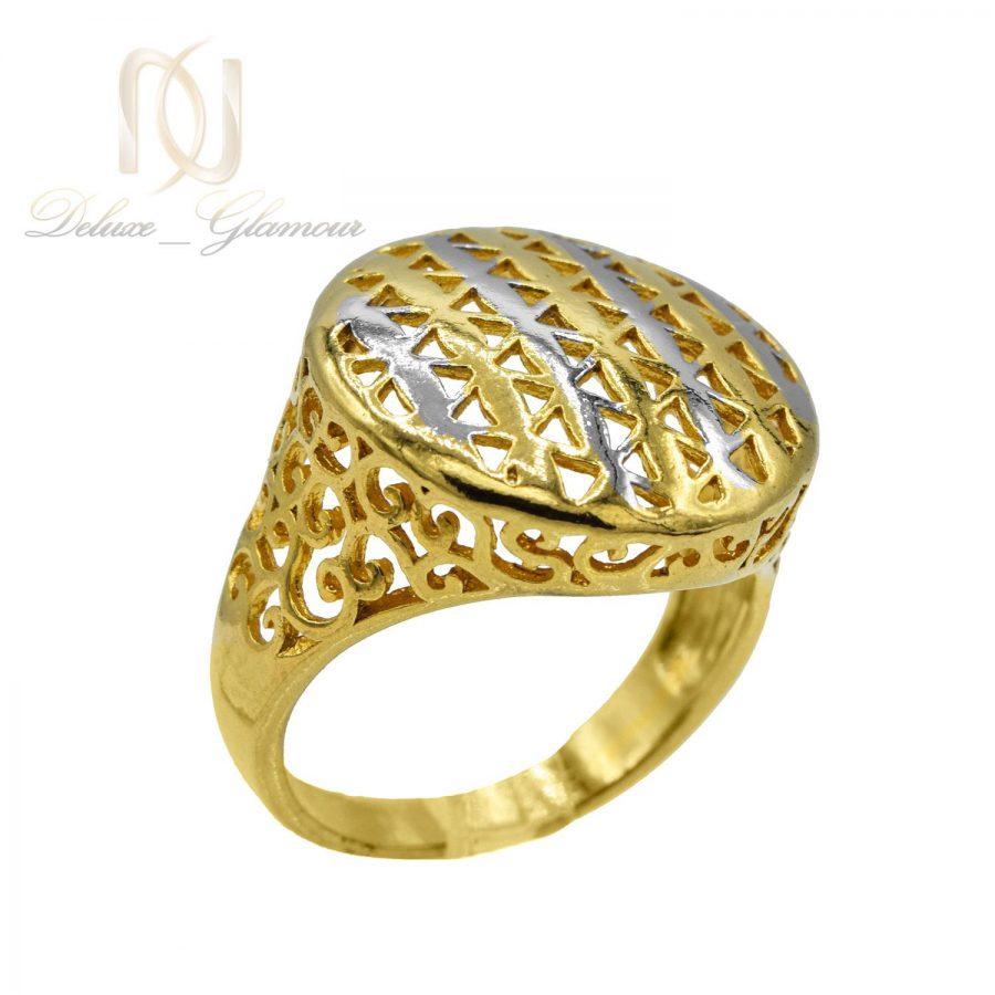 انگشتر زنانه برنجی طلایی RG-N435 از نمای سفید