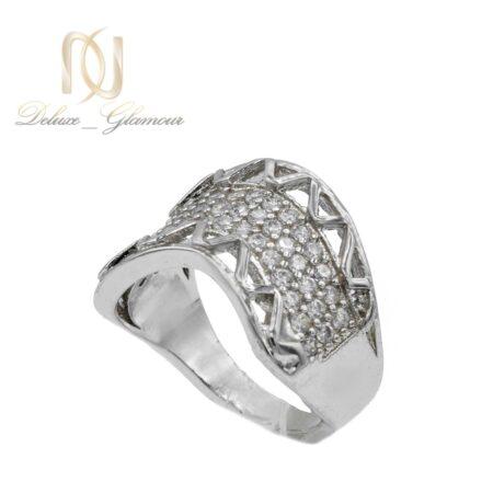 انگشتر زنانه طرح طلا سفید rg-n446