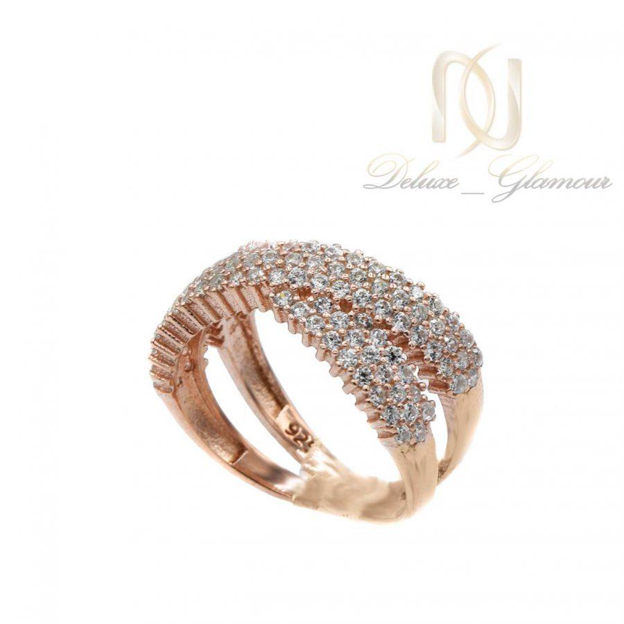 انگشتر نقره زنانه رزگلد rg-n448 از نمای روبرو