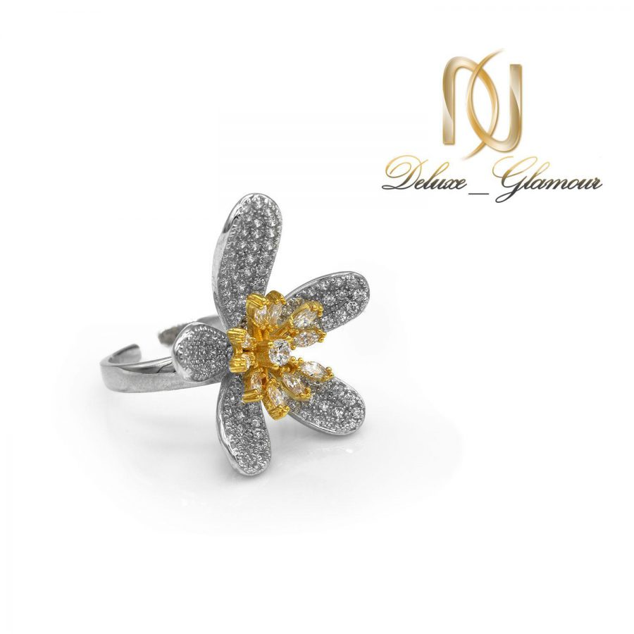 انگشتر نقره زنانه طرح گل rg-n429