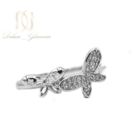 انگشتر ژوپینگ طرح پروانه rg-n442 از نمای سفید