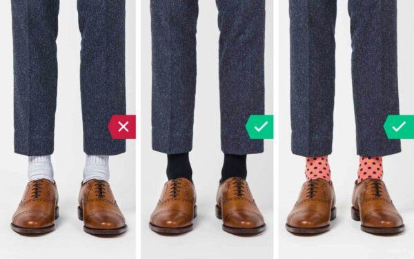 اشتباه رایج در پوشش آقایان - جوراب ورزشکاری سفید