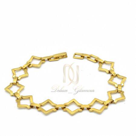 دستبند دخترانه استیل طلایی  nw-n506