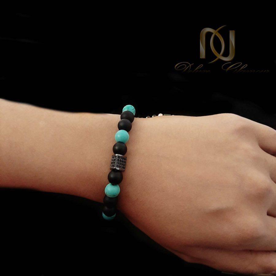 دستبند دخترانه سنگ اونیکس za-n013 از نمای نزدیک
