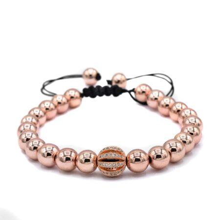 دستبند دخترانه سنگ حدید za-n014