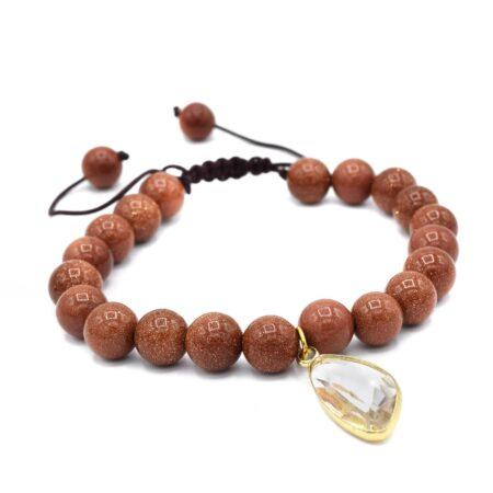 دستبند دخترانه سنگ عقیق دلربا za-n06