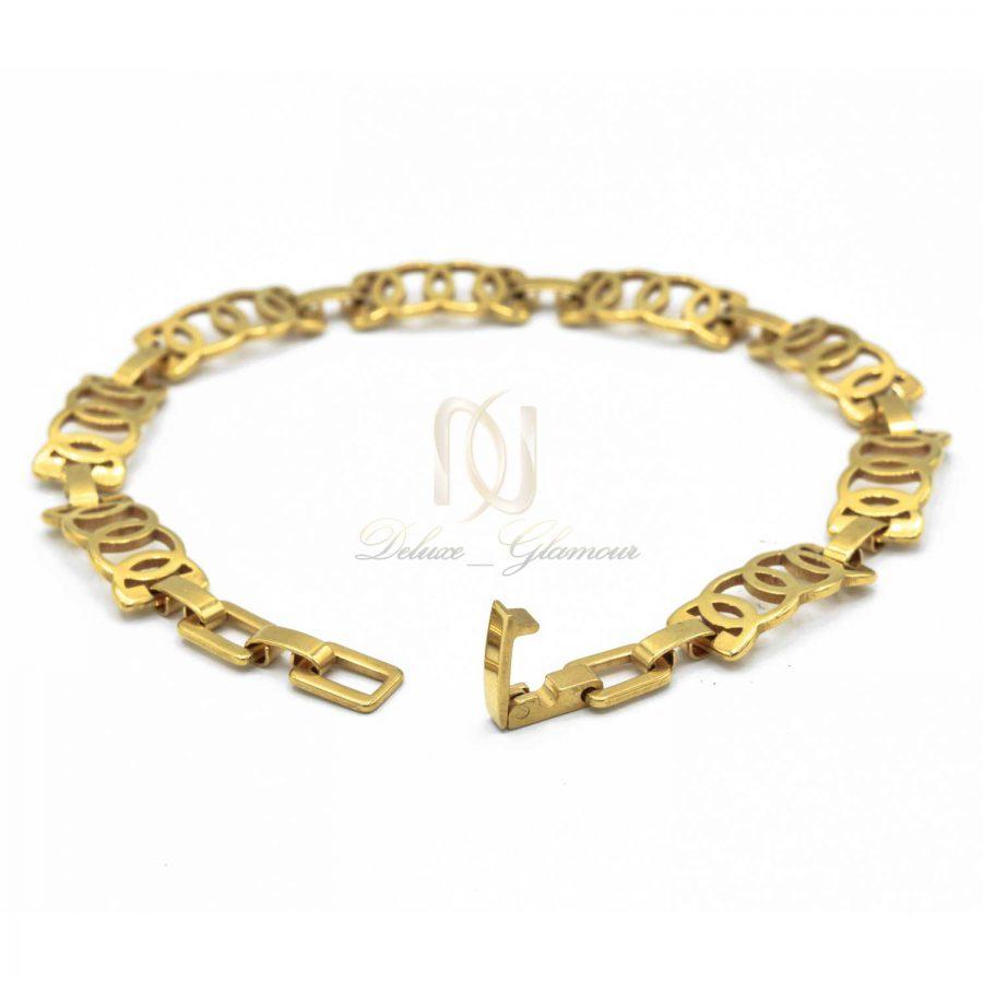 دستبند دخترانه ظریف استیل DS-N506 از نمای پشت