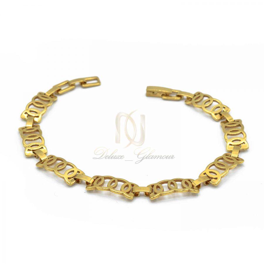 دستبند دخترانه ظریف استیل DS-N506 از نمای روبرو