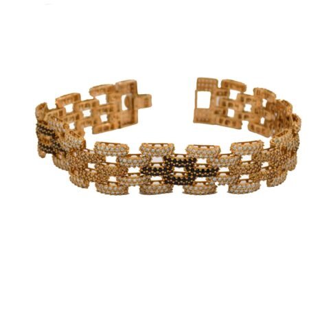 دستبند زنانه نقره رزگلد MA-N103