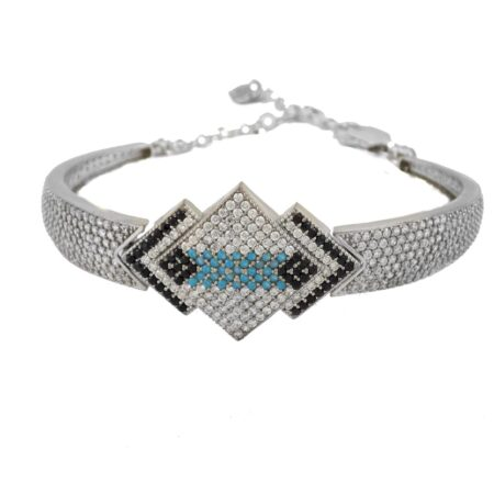 دستبند زنانه نقره پرنگین ma-n115
