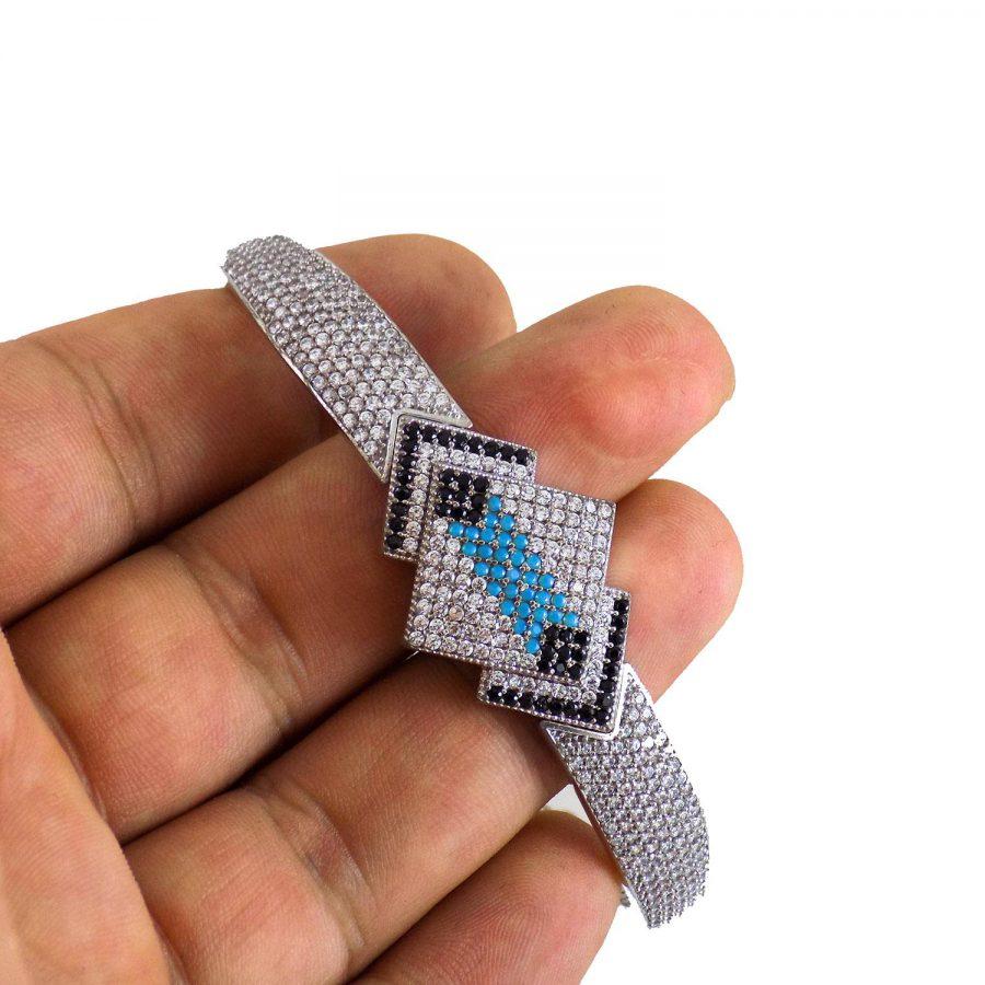 دستبند زنانه نقره پرنگین ma-n115 از نمای دور