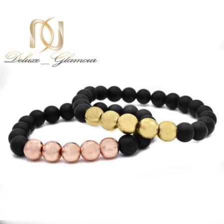 دستبند ست عاشقانه سنگی za-n03 از نمای سفید