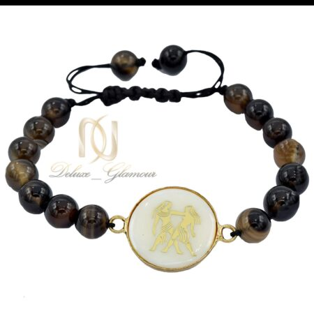 دستبند سنگ ماه تولد خرداد ds-n505 از نمای سفید