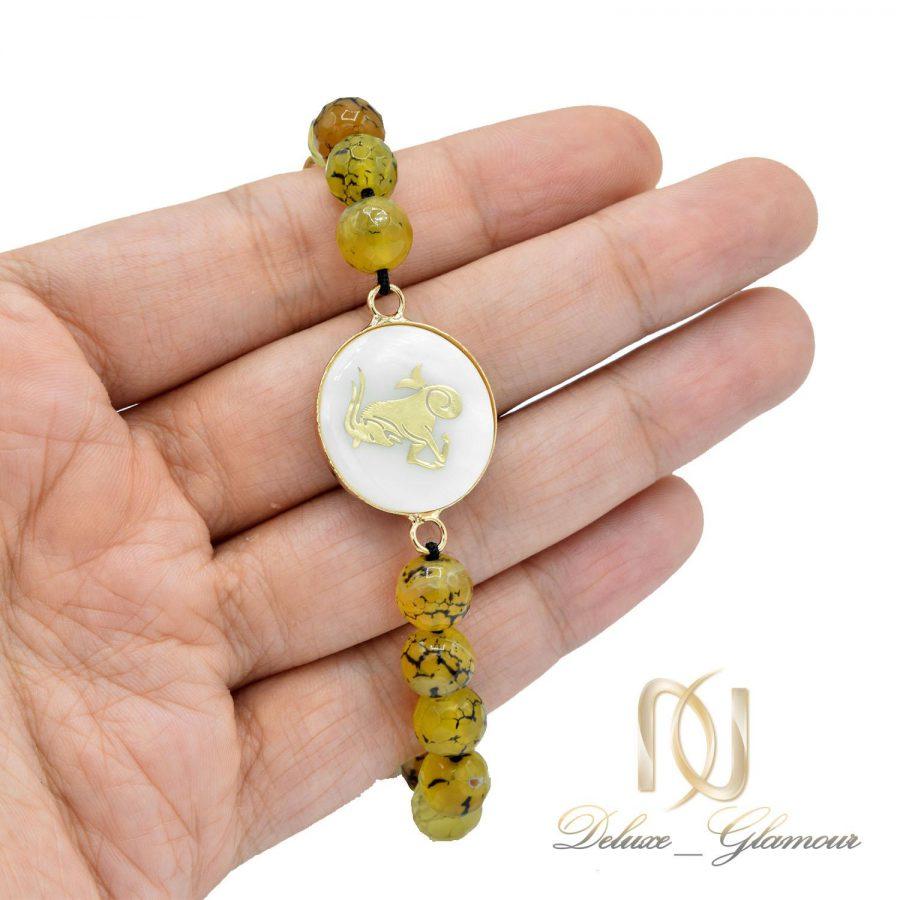 دستبند سنگ ماه تولد دی ds-n504 از نمای روی دست
