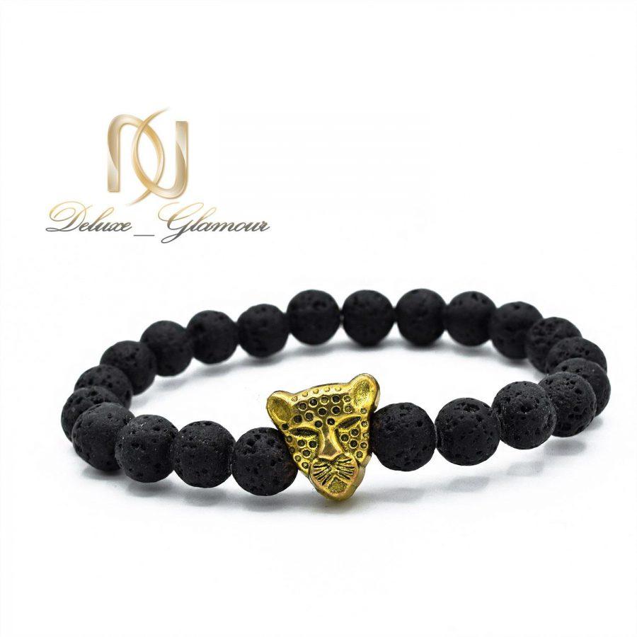 دستبند مردانه سنگ لاوا za-n04 از نمای سفید