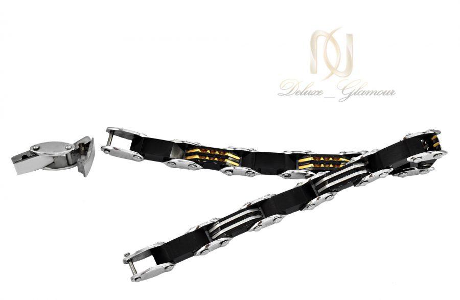 دستبند مردانه لوکس تنگستن ds-n498 از نمای پشت