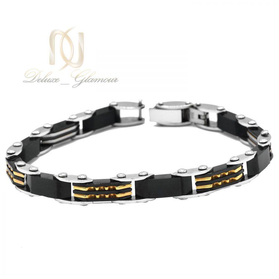 دستبند مردانه لوکس تنگستن ds-n498 از نمای روبرو