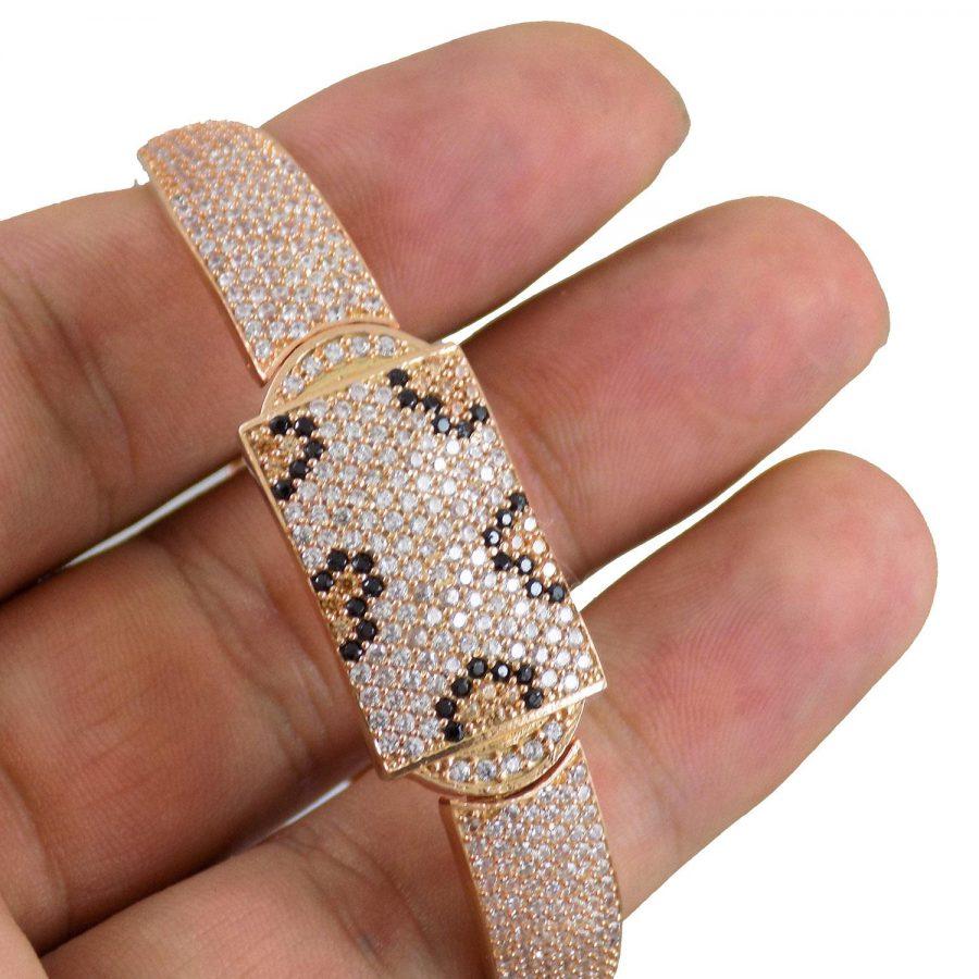 دستبند نقره زنانه رزگلد ماری ma-n116 از نمای روی دست