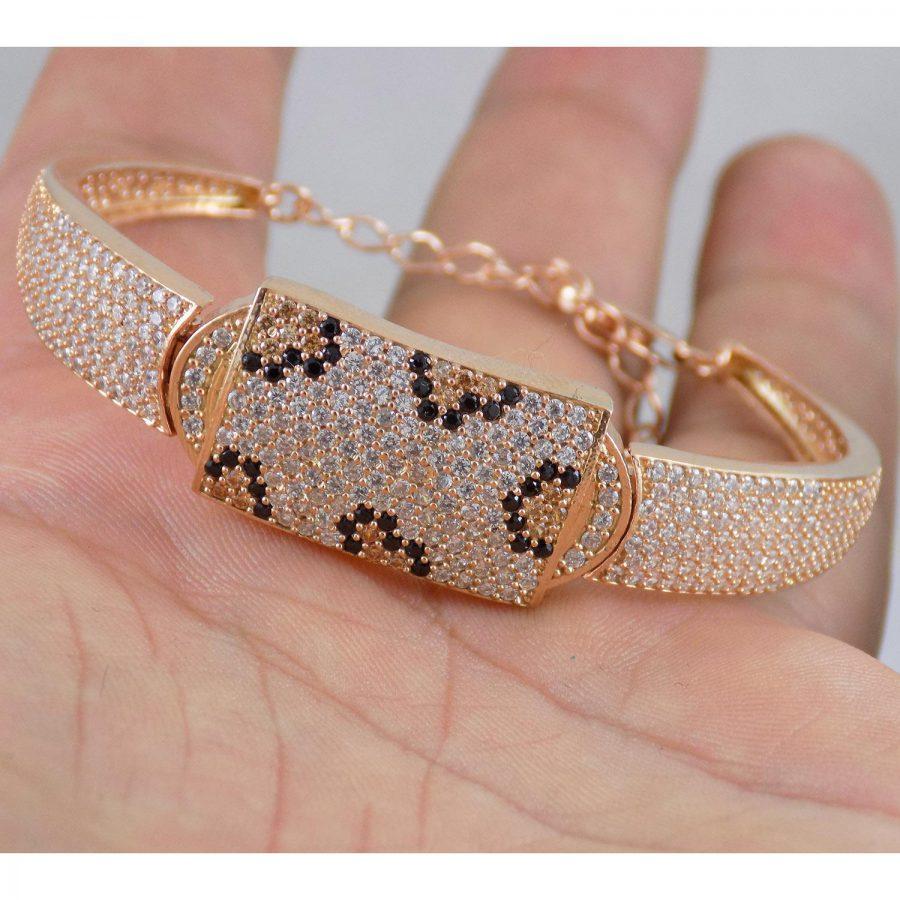 دستبند نقره زنانه رزگلد ماری ma-n116 از نمای دور