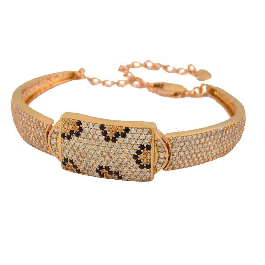دستبند نقره زنانه رزگلد ماری ma-n116 از نمای روبرو